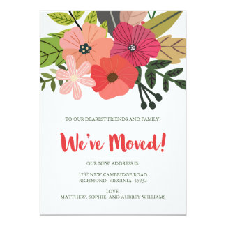 Floral con clase hemos movido la invitación