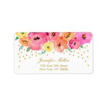 Floral Confetti Wedding Address Labels