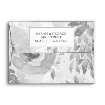 floral coral inner wedding invitation envelope