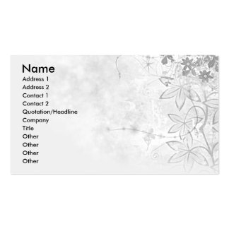 Floral-Corner-Business-Card Double-Sided Standard Business Cards (Pack Of 100)