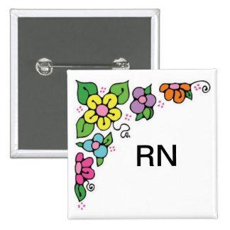 Floral Corner Pinback Button
