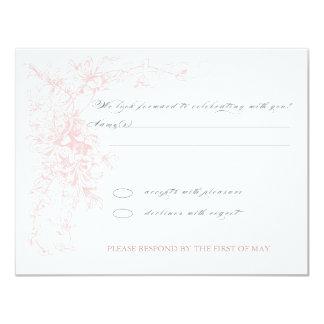 Floral Corner RSVP Card