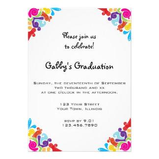 Floral Corners Graduation Party Invitation