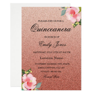 Coral Quinceanera Invitations & Announcements | Zazzle