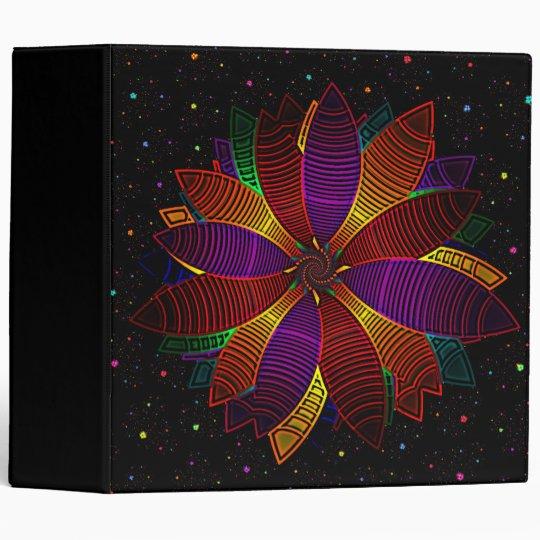 Floral cosmos binder