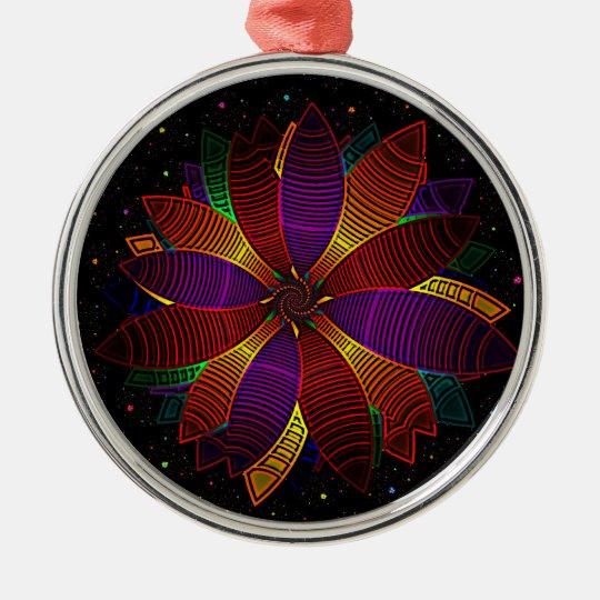 Floral cosmos metal ornament