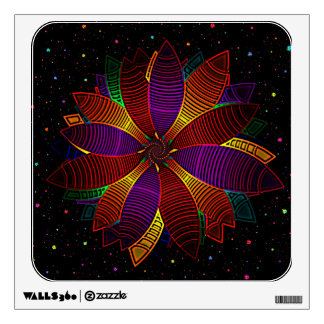 Floral cosmos wall decal