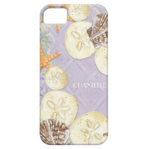 Floral Cottage by the Sea Shells Beachy Name iPhone 5 Covers