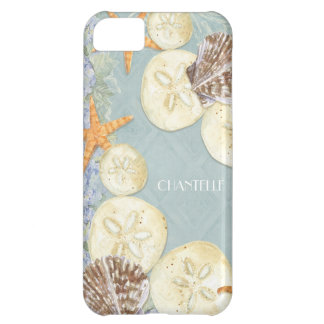 Floral Cottage by the Sea Shells Beachy Name iPhone 5C Cases