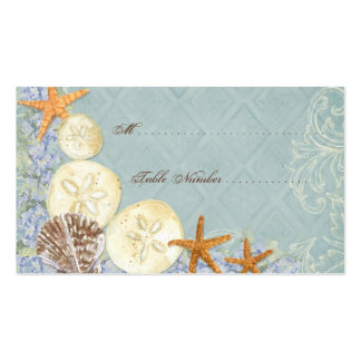 Floral Cottage by the Sea Shells Beachy Wedding Business Card Template