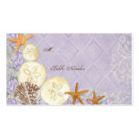Floral Cottage by the Sea Shells Beachy Wedding Business Card