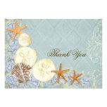 Floral Cottage by the Sea Shells Beachy Wedding Cards
