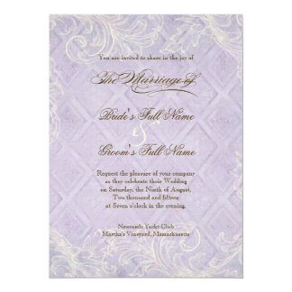 Floral Cottage by the Sea Shells Beachy Wedding 5.5x7.5 Paper Invitation Card