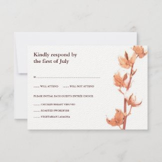 Floral Cotton Response Card