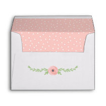 Floral Cow Baby Shower / Birthday Party Invitation Envelope