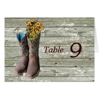 floral cowboy boots western country wedding card