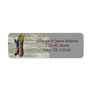 floral cowboy boots western country wedding label