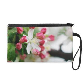Floral Crabapple Blossoms Bagettes Wristlet Bag