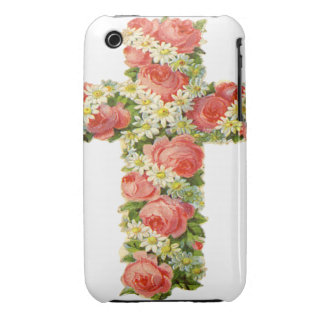 Floral Cross Blackberry Curve Case-Mate Case iPhone 3 Cover
