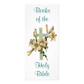 Floral Cross Book Mark Rack Card
