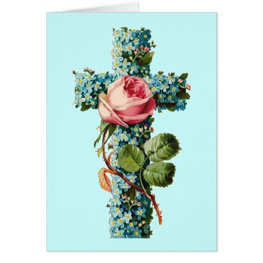 Floral Cross Card