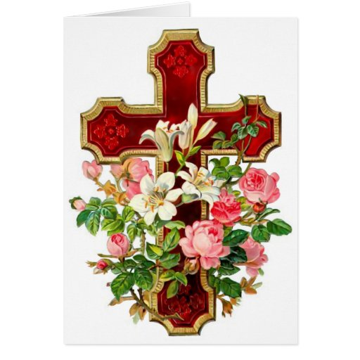 Floral Cross Cards
