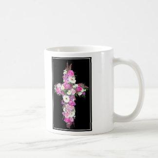 Floral Cross Coffee Mug