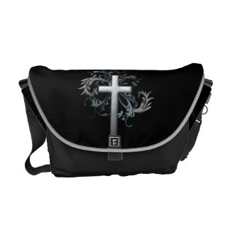 Floral Cross Courier Bags