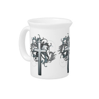 Floral Cross Drink Pitchers