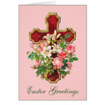 Floral Cross Easter Greetings Cards