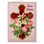 Floral Cross Greeting Card