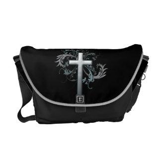 Floral Cross Messenger Bag