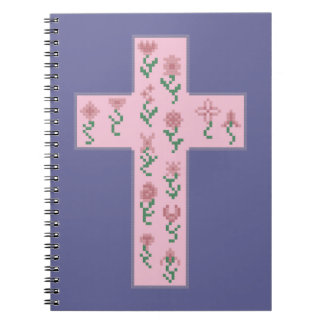 Floral Cross Notebook