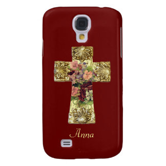 Floral Cross Samsung Galaxy S4 Case