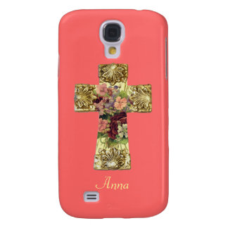 Floral Cross Samsung Galaxy S5 Case