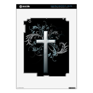 Floral Cross Skin For iPad 3