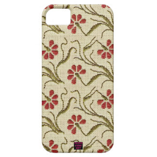 Floral Cross-Stitch Embroidery Design 5 iPhone SE/5/5s Case