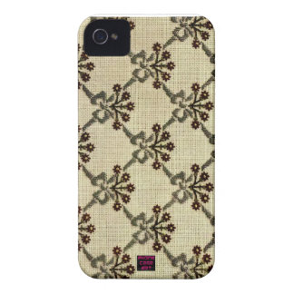 Floral Cross-Stitch Embroidery Pattern Design iPhone 4 Cover