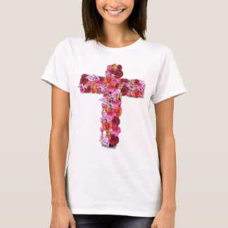 Floral Cross T-Shirt