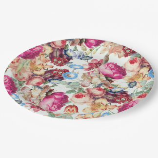 """Floral Crush paper plate 9"""""""