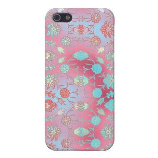 Floral curiosamente colorido iPhone 5 carcasa