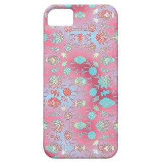 Floral curiosamente colorido iPhone 5 carcasas