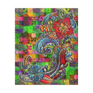 Floral Curls Abstract Modern Art Canvas Print