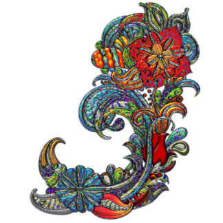 Floral Curls Abstract Modern Art Photo Cut Out