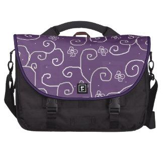 floral curls commuter bag