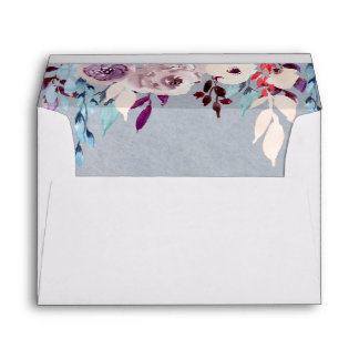 Floral Curtain A7 5.25 x 7.25 Envelope