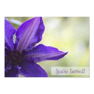 Floral Custom Invitation