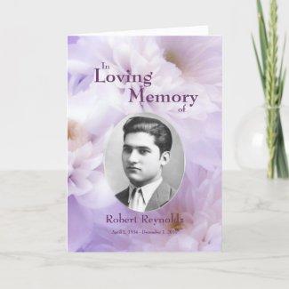 Floral Custom Photo In Loving Memory Card