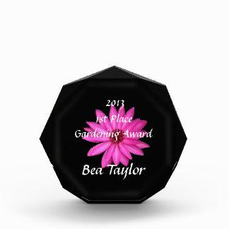 Floral Customized Name Flower Gardening Award