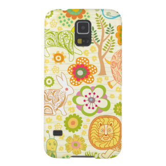 floral cute animals galaxy s5 cover